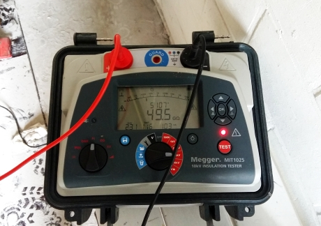 Transformatoren Maintenance Partners - testen megger 460