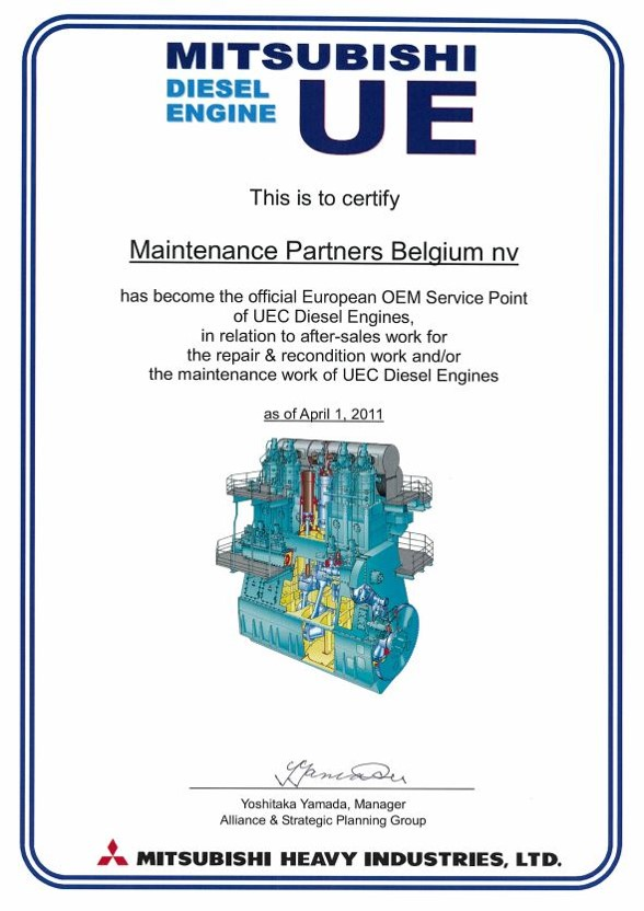 Maintenance Partners - Marine Offshore 02 MHI UEC Diesel Engines OEM Service Point
