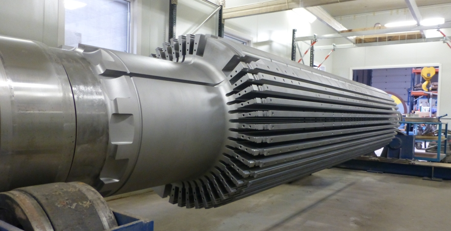 120 MW turbogenerator rotor 2015 A