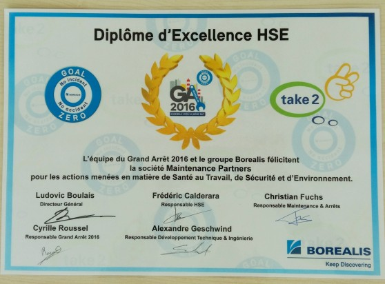 Maintenance Partners - Diplome Excellence HSE